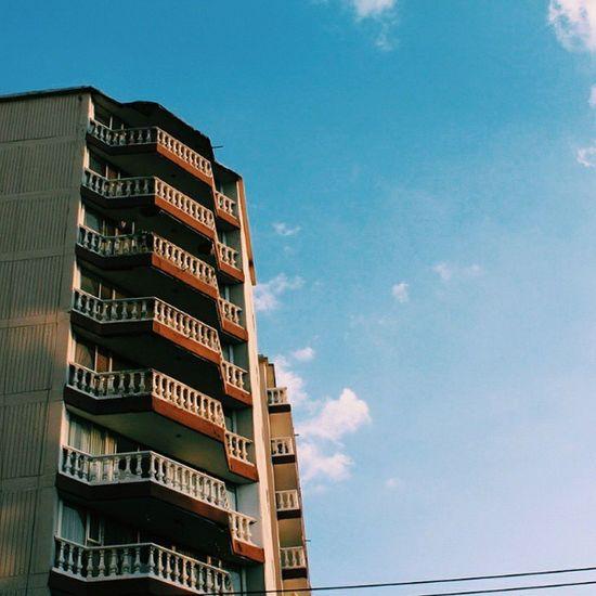 🏦☀☁. Vscocam Vscogrid Vsco_df Mexicoalternativo mextagram Vibrant minimalism heaven blue city cdmx Building arquitectura street sun cloud
