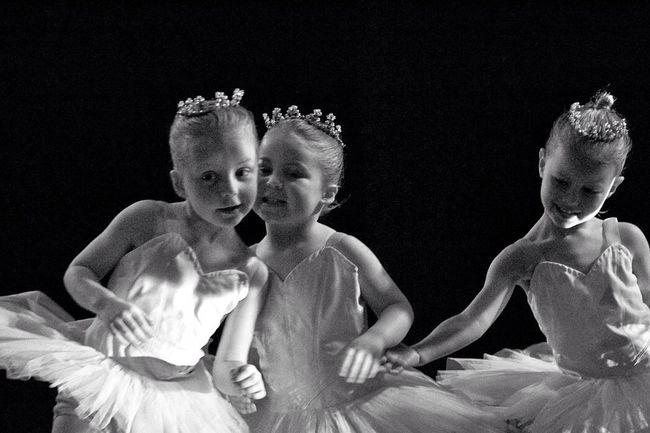 Lil Snow Flakes Ballet The Nutcracker  Black & White Working The Crowd
