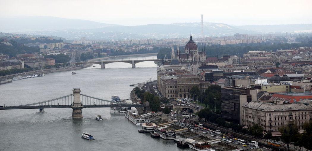 Bridge Bridge - Man Made Structure Budapest Capital Cities  City Cityscape Danube Hungary River Tourism Travel Destinations Water