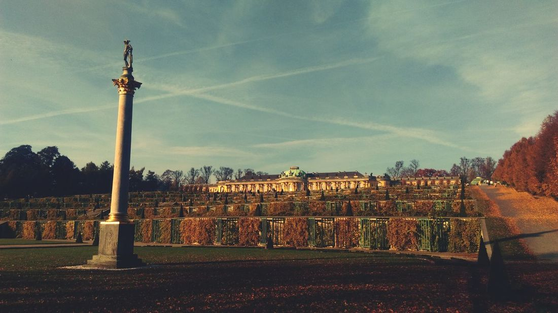 Potsdam Sans Souci Sans Souci Castle Schlosspark Schloss Schloss Sanssouci UNESCO World Heritage Site Unesco World Heritage Unescoworldheritage Autumn Weather Sunny Day