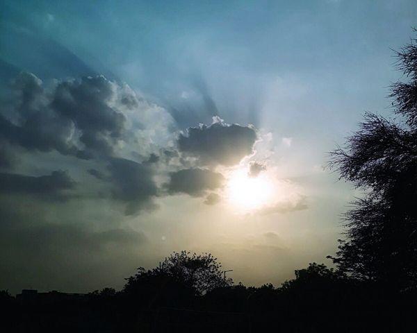 The Street Photographer - 2017 EyeEm Awards Sunset Silhouettes Outdoors DelhiDairies Cloudy