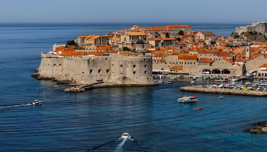 Old town Dubrovnik Dubrovnik, Croatia Yacht Sea Architecture Water Tourism Building Exterior Beach Horizon Over Water Travel Destinations Outdoors Built Structure High Angle View Blue Nautical Vessel Sky Travel Vacations City
