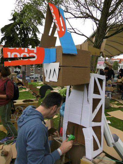 Taking Photos Enjoying Life Festival Getting Inspired Recycling Materials Cardboard People Peoplephotography Getting Creative