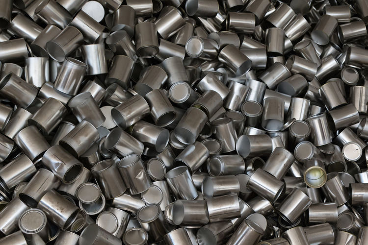 Metal Silver Colored Shiny Aluminum Backgrounds Close-up Steel Silver - Metal Large Group Of Objects Pattern Man Made Object Full Frame Gray Alloy Man Made Indoors  No People Heap Industry Abundance Abstract Iron - Metal Metal Industry Chrome