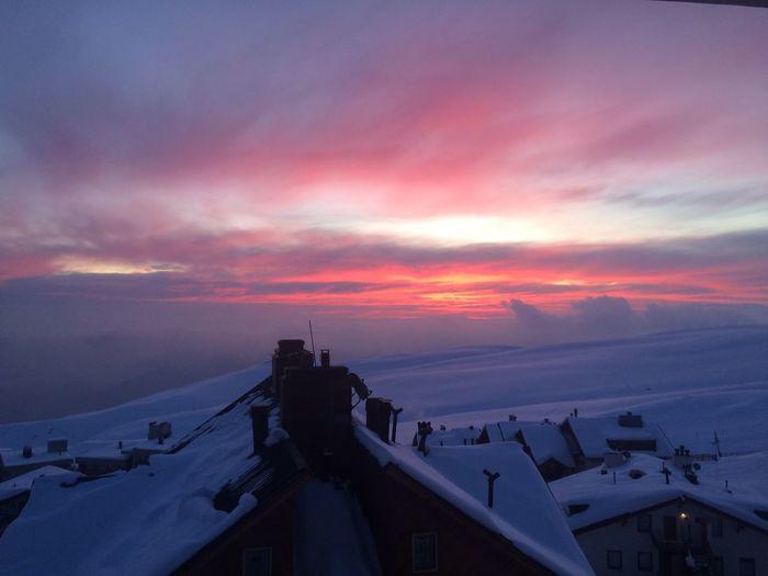 Sunset Sky Cloud - Sky Nature Silhouette Winter Chile La Parva