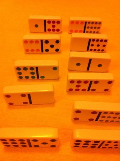 Domino Chance Close-up Communication Day Dice Dominoe Game Dominoes Dominoes Game Gambling Indoors  Luck No People Number Yellow