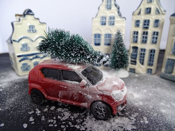 Car Building Exterior Land Vehicle Transportation Architecture Street Mode Of Transport Snowy Weather Close-up Winter Stationary Day Outdoors No People Christmas Tree Miniature Suzuki Winter Snowing Dutch Landscape Suzuki Ignis Dutch House Miniature Photography Weather Toy Car