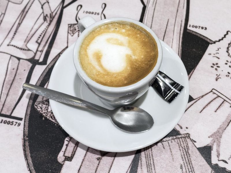 Coffee Coffee Cup Cup Drink Food And Drink France Frothy Drink Indoors  Paris Saucer Spoon Table Liquid Lunch