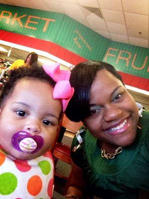 Golden Coral with my princess #StPatricksDay