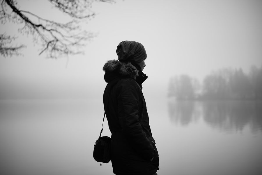 November feeling ThatsMe Lake Water Lake Lifestyles Real People Sky One Person Leisure Activity Nature Standing Fog Warm Clothing Outdoors Non-urban Scene