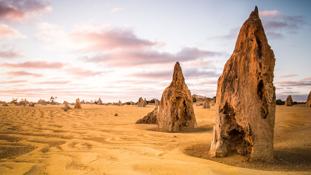 The Pinnacles. Australian Landscape Pinnacles Western Australia Arid Climate Beauty In Nature Cloud - Sky Day Desert Fujifilm Landscape Nature No People Outdoors Sand Sand Dune Scenics Sky Sunset EyeEmNewHere Lost In The Landscape