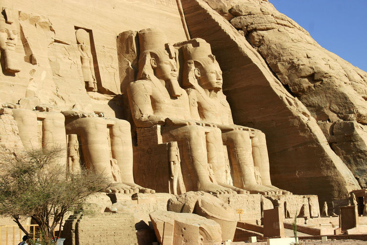 Tempe of Ramesses II Abu Simbel Temples Ramesses II Ancient Civilization Archaeology Egyptian History Human Representation Sculpture Spirituality Statue Temple - Building The Past Tourism Travel Destinations