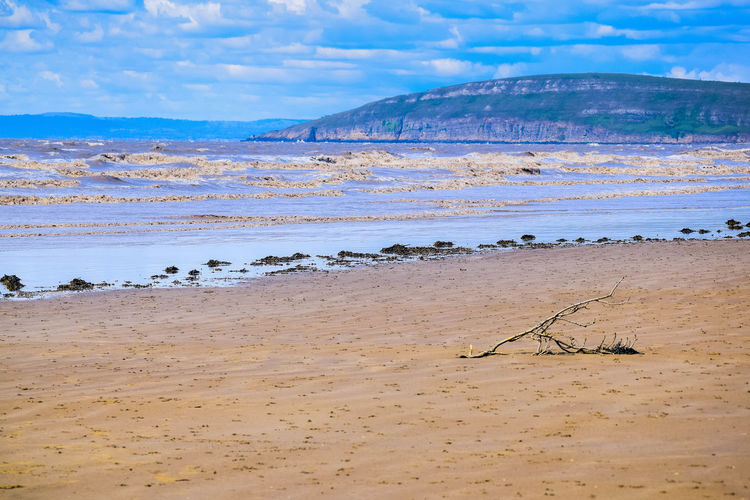 Land Beach Sky Sand Scenics - Nature Nature Beauty In Nature Tranquil Scene Day Beach Photography Space For Text Space For Copy Blue Sky Water Sea Tranquility Non-urban Scene Outdoors No People Cloud - Sky Environment Idyllic Mountain Brean Down The Great Outdoors - 2019 EyeEm Awards