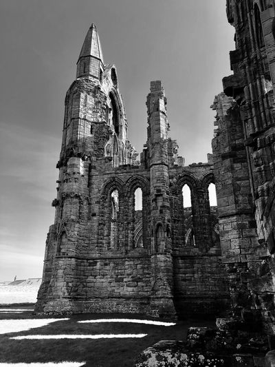 Old is beautiful Blackandwhite Photography Blackandwhite EyeEm Best Edits EyeEm Selects EyeEm Gallery My Best Photo Abbey Sky Built Structure Architecture History Nature Low Angle View The Architect - 2019 EyeEm Awards Old Ruin Travel Destinations Ancient
