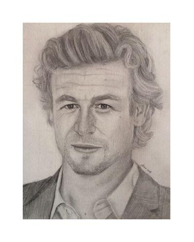 Drawing Mentalist Simon Baker Patrick Jane The Mentalist Portrait Tea Art