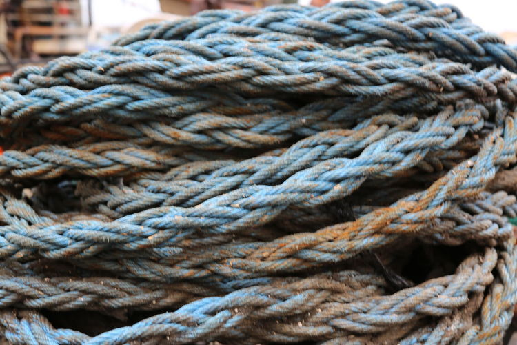 Rope Tangled Fishing Equipment Textured  Fishing Industry Tied Knot
