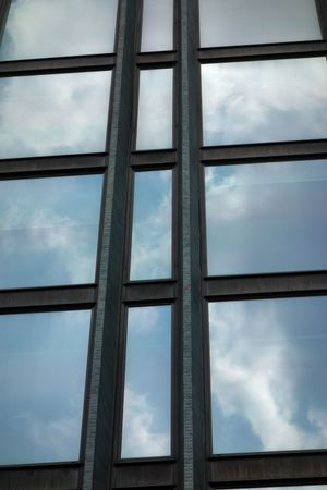 Cloud - Sky Sky Low Angle View Window Glass - Material No People Transparent Pattern Day Full Frame Nature Backgrounds Built Structure Architecture Outdoors Design Shape Close-up Skylight Window Frame Reflections Clouds