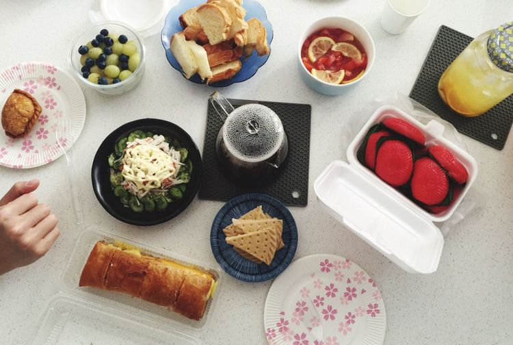 Food And Drink Food Freshness Variation High Angle View Plate Healthy Eating Table Indoors  Healthy Lifestyle Human Body Part Ready-to-eat Human Hand Day People Party Hightea Assortment Snacks Singapore Housewarming