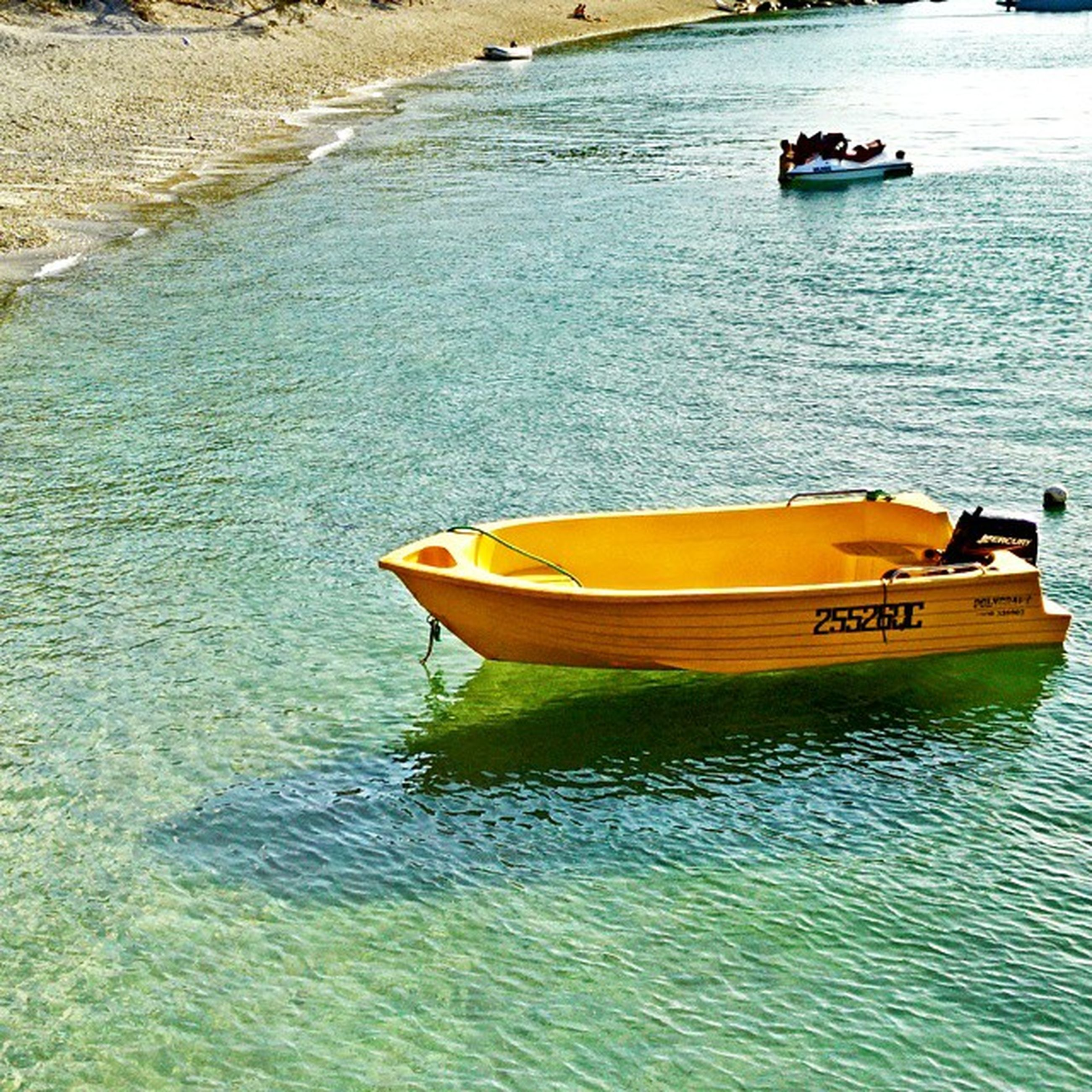 water, nautical vessel, transportation, boat, mode of transport, moored, sea, rippled, waterfront, high angle view, travel, tranquility, nature, tranquil scene, beauty in nature, day, rowboat, oar, outdoors, sailing