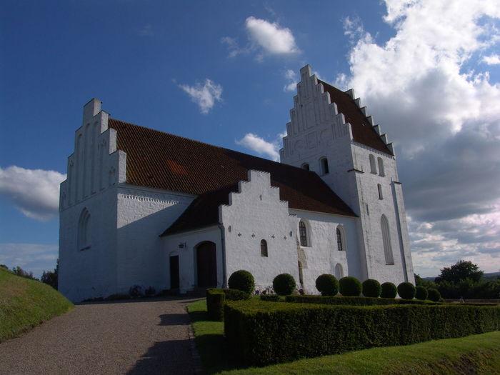 Facade of church against sky