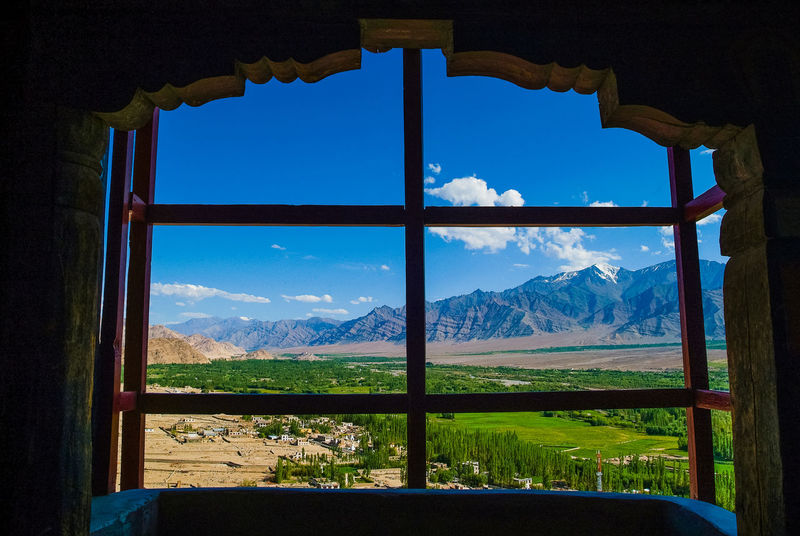Thikse gompa or thikse monastery Blue Cloud - Sky India Landscape Leh Leh Ladakh.. Mountain Mountain Range Nature Outdoors Scenics Sky Thiksey Travel Travel Destinations Window