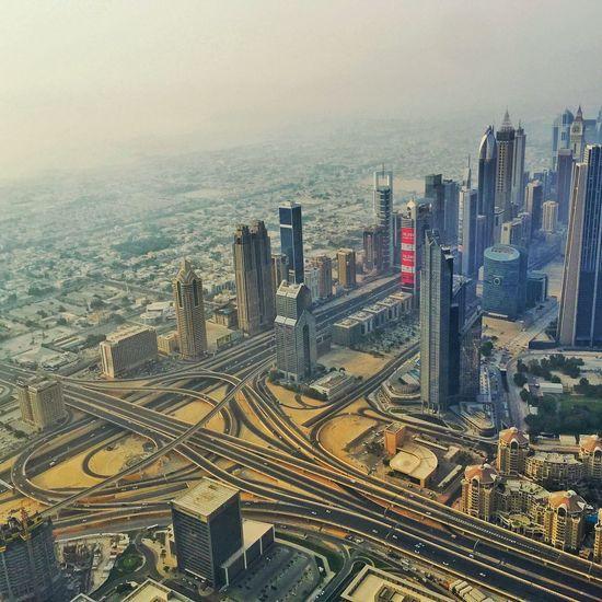 Enjoying The View Burj Khalifa Dubai Scyscraper Eye4photography  IPhoneography Traffic Cityscape Taking Photos Aerial Shot