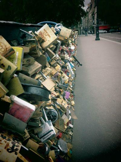 The Tourist Lovers Bridge Paris France Love