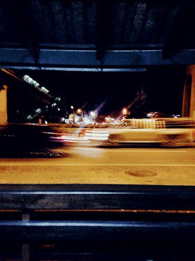 Street night Street Night Night Lights Transportation Illuminated Road City Street Architecture Motion Car on the move Speed