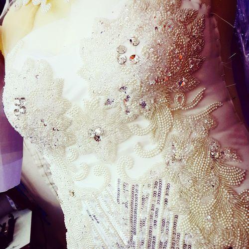 Beads Work Handmade White Weeding Dress Body Made Bye Mee