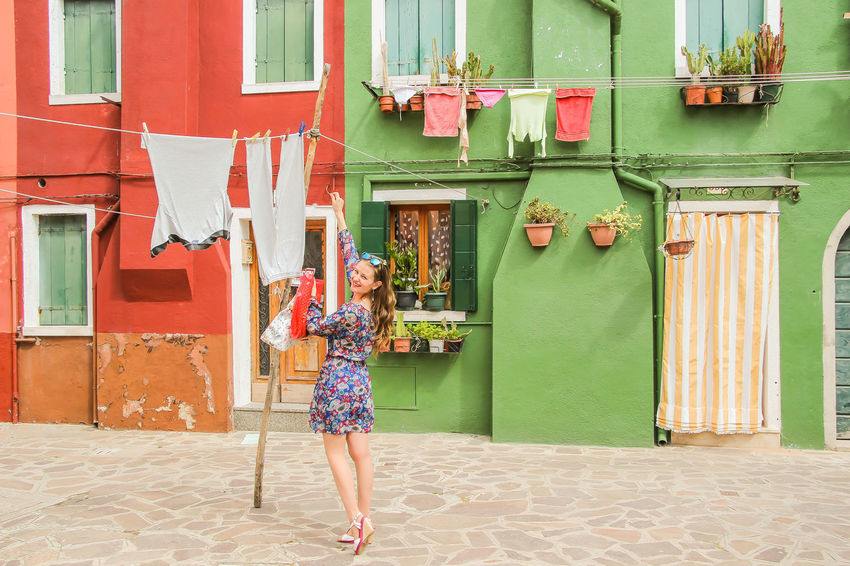 Burano, Venice City EyeEm Best Shots EyeEm Selects EyeEm Gallery EyeEmBestPics Top Photography Adventure Adventures In The City Architecture Building Exterior Built Structure Front View Hairstyle Leisure Activity Lifestyles Marco Vittorio Marco Vittorio Photography One Person Outdoors Real People Standing Top Photos Women Young Women