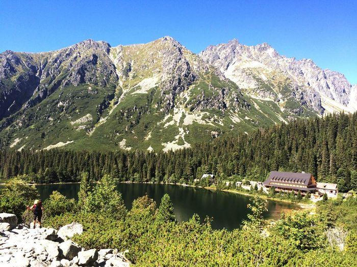 Poprad lake in High Tatras