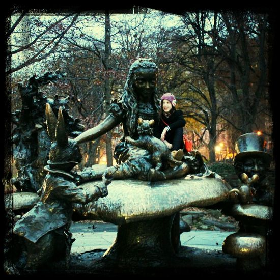 Xu in Central park, New York 2013  Autumn 2013