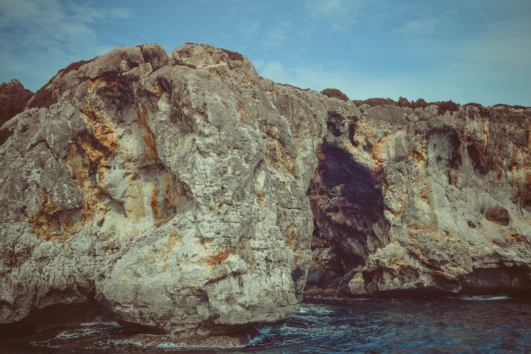 Rock Rock - Object Solid Rock Formation Sea Sky Water Nature Beauty In Nature Tranquility No People Scenics - Nature Tranquil Scene Day Waterfront Cliff Geology Land Outdoors Formation Eroded Stack Rock Marine Coastline