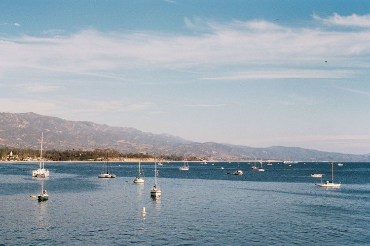 Analogue Photography Cali California Film Ishootfilm Pacific Analog Blue Boats Day Film Photography Filmisnotdead Horizon Over Water Landscape Mountain Nature Ocean Sky Tranquility Water