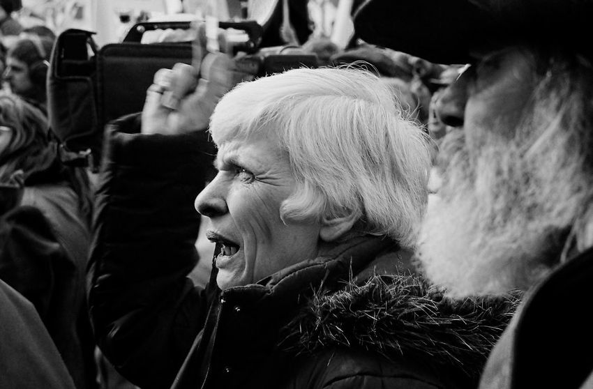 Age Anger Capture The Moment Contemplation Day I Love My City Il Person Protest Real People Serious Speach This Is Aging