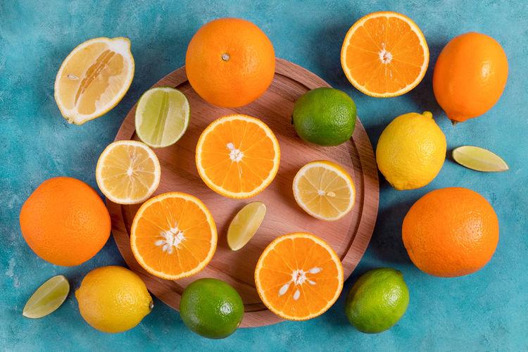 Directly above shot of orange fruits