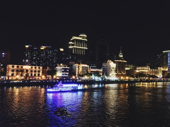 Ship Building Exterior Architecture Night Built Structure Illuminated Water City Waterfront River No People Cityscape Modern Outdoors