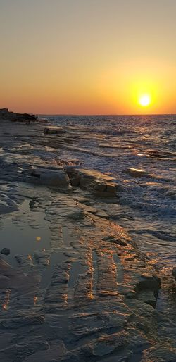 North coast, Alexandria, Egypt Wave Sea Sunset Beach Water Low Tide Sun Sunlight Swimming Awe