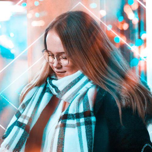 Lights Nikon Colors Photoshop Photoshop Edit Young Women Wireless Technology Women Headshot Eyeglasses  Smiling Close-up Using Phone Self Portrait Photography Selfie Photographing Photography Themes Camera Camera - Photographic Equipment