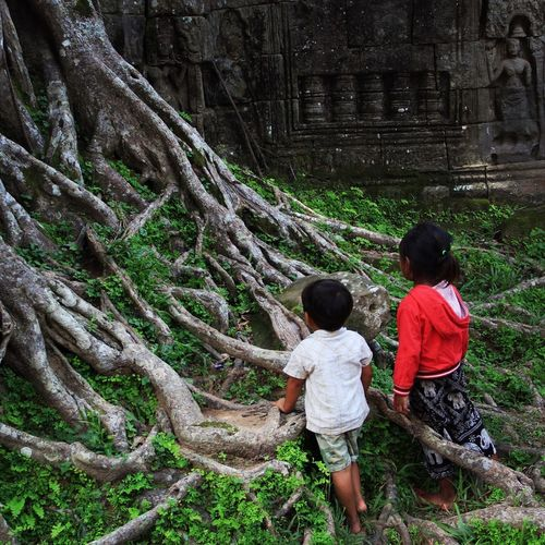 Can you see? Siem Reap, Cambodia Boy And Girl