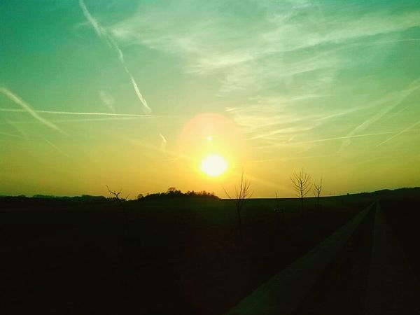 And the Sun goes down Nature Niederndodeleben Walking Around