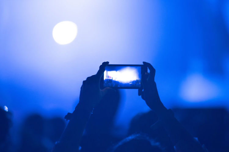 People photographing at night