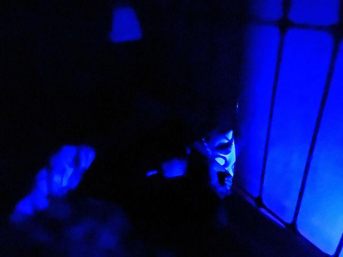 Close-up of illuminated light painting on wall
