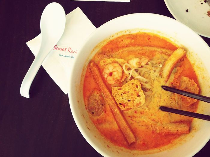 Secret recipe's Singaporean laksa is soooooo nice. Foodphotography Taking Photos Vscomalaysia Vscoborneo Eyemphotography VSCO Cam Vscokita Vscocam Foodpornasia Laksa Mee