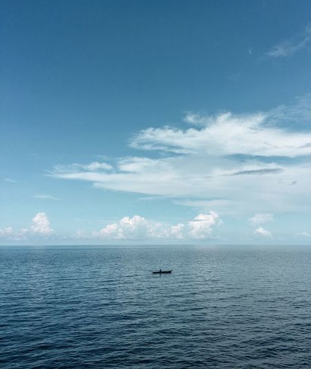 Water Scenics - Nature Beauty In Nature Sky Tranquil Scene Tranquility Sea Blue Nature Horizon Over Water Seascape Non-urban Scene Waterfront
