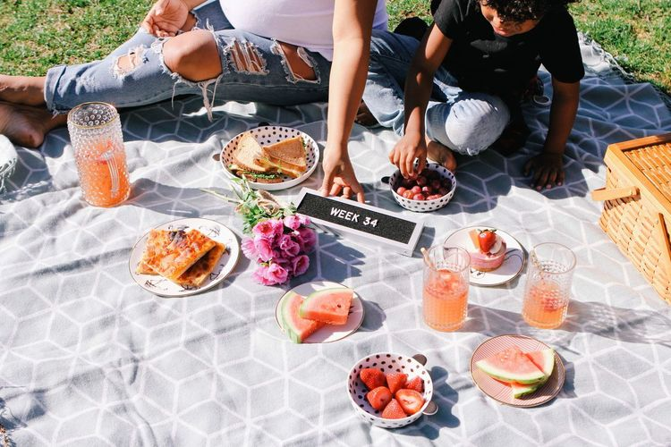 Long Goodbye Good bye of being the only child Healthy Eating Food And Drink Food Picnic High Angle View Healthy Lifestyle Togetherness Eating Table Sitting Outdoors Fruit Day Watermelon Meal Lunch People Friendship Lifestyles Snack