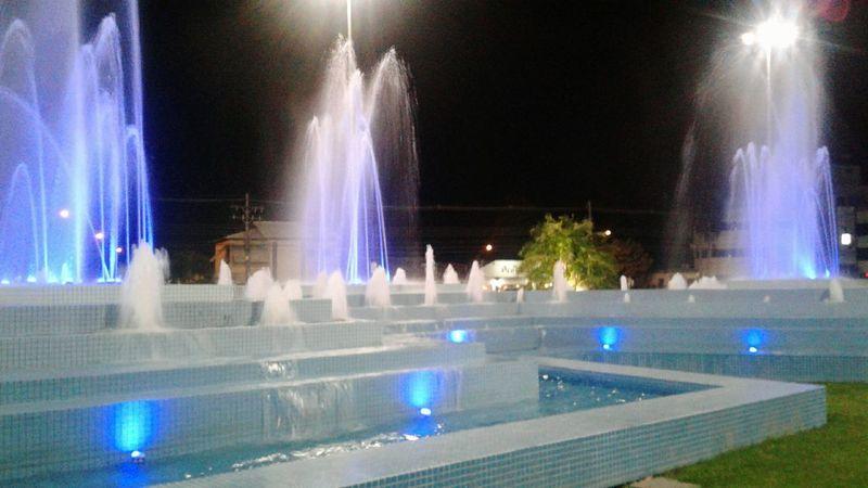 Night Illuminated Arts Culture And Entertainment Fountain Water Lifestyles Nightlife Architecture Boa Noite Boa Vista Brazil