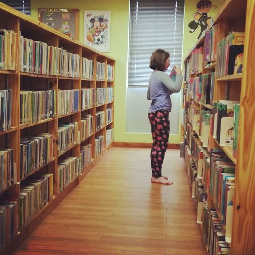 For the Love of Books Bookshelf Shelf Library Indoors  Education Book One Person Child Research Learning