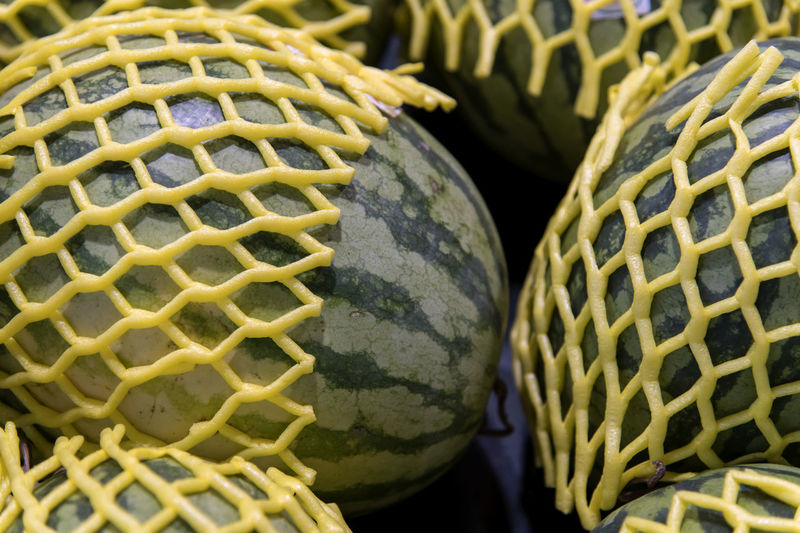Full frame shot of watermelons for sale at market stall