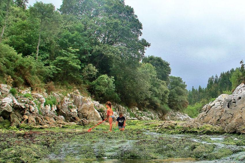 Scenics EyeEm Gallery El Tiempo Detenido Hello World Hi!! EyeEm Nature Beauty In Nature Beach Tranquil Scene Idyllic Color Green Color Niños Jugando